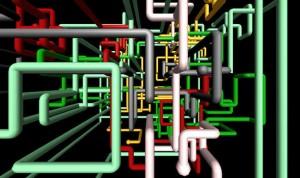pipe maze