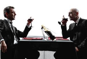 One percenters enjoy fine wine.