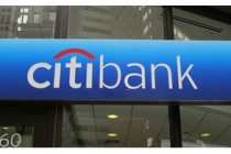 Citibank sign in window