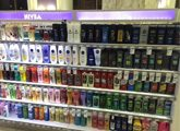 hair care display in a store
