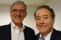 FCC Chairman Tom Wheeler, left, and CFC Executive Director Richard Holober