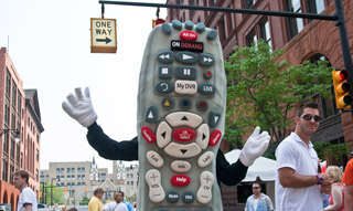 Cable TV remote costume
